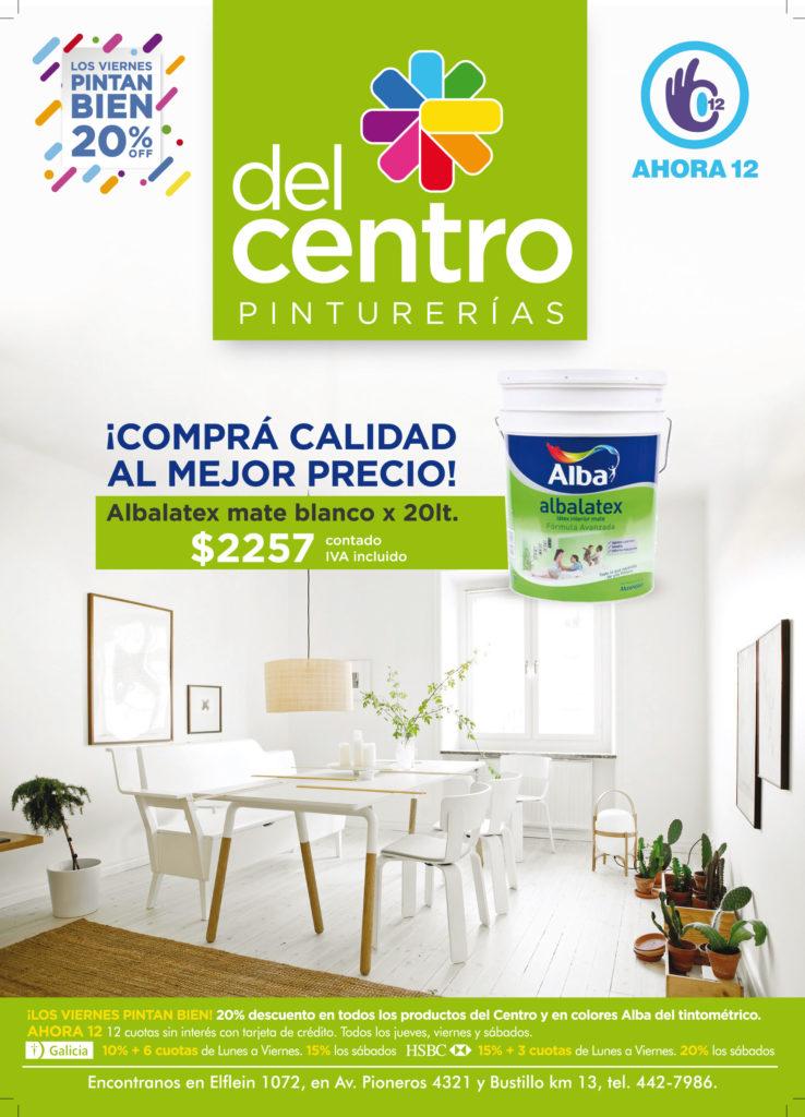 Pinturerías del Centro Aviso gráfico Piensamarketing Revista ABC Bariloche diseño publicidad