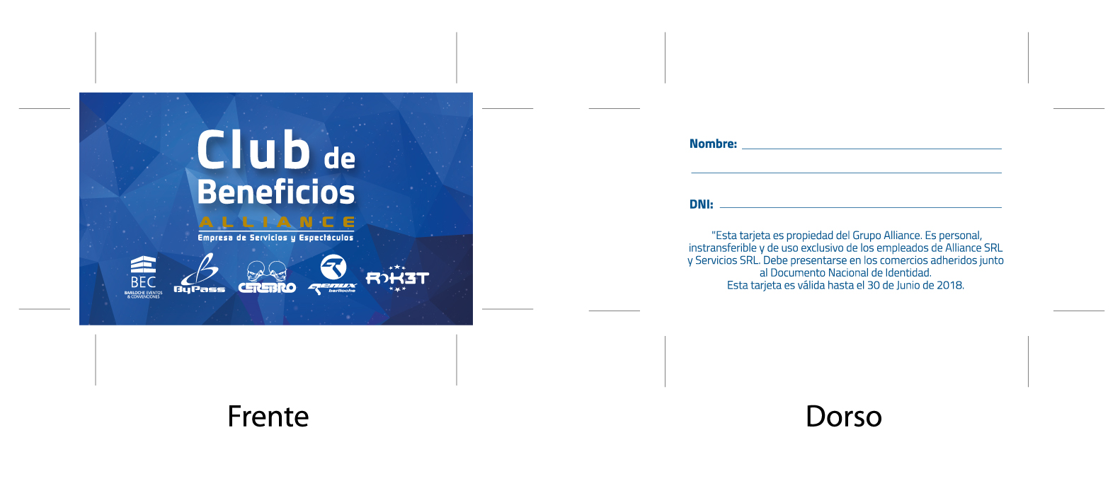 Tarjeta Beneficios Alliance discos BEC By Pass Roket Cerebro Genux